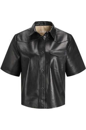 "JACK & JONES Jxlark Short Leather Skjorte Kvinder Black"",""Brown"