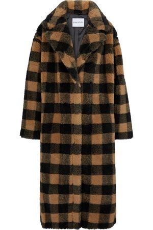 Stand Studio Maria checked faux fur coat