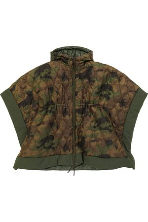 Il gufo Piger Ponchos - Hooded camouflage cape