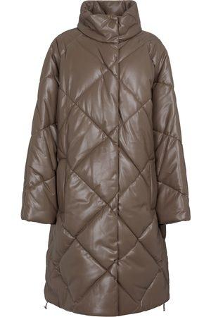 Stand Studio Kvinder Vinterfrakker - Anissa quilted faux leather coat