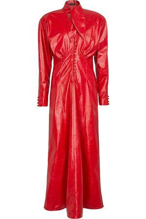 Isabel Marant Genazuli faux leather maxi dress