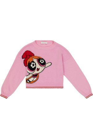 Monnalisa Embroidered wool sweater