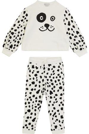 STELLA McCARTNEY Kids Piger Sweatshirts - Dalmatian fleece tracksuit