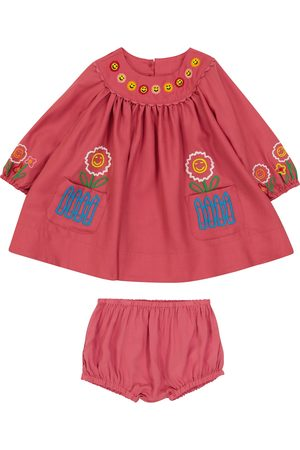 STELLA McCARTNEY Kids Baby embroidered wool dress and bloomers set
