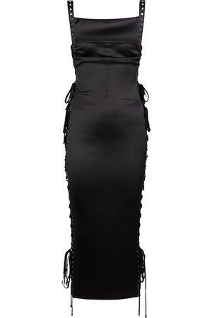 Dolce & Gabbana Lace-detail stretch-silk midi dress