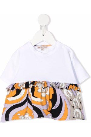 Emilio Pucci Junior Baby Kortærmede - Abstract-Print peplum T-shirt