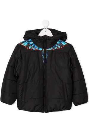 Marcelo Burlon County Of Milan Kids BLUE GRIZZLY WINGS NY PUFFER BLACK LIGH