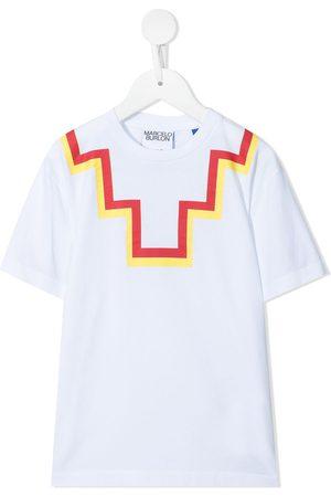 MARCELO BURLON T-shirt med logotryk