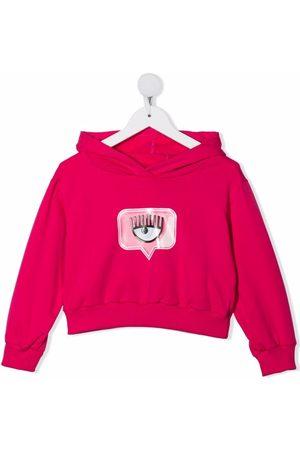 Chiara Ferragni Piger Hoodies - Pullover-hættetrøje med logomærke