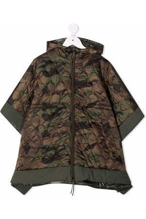 Il gufo Camouflage quilted poncho coat