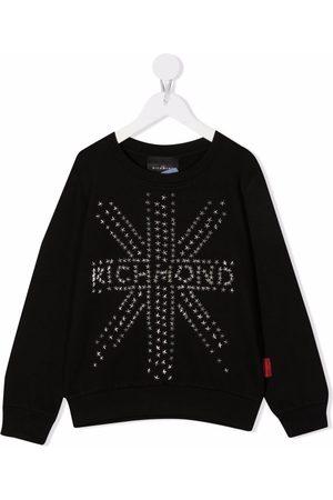 John Richmond Junior Piger Sweatshirts - Star-studded logo sweatshirt