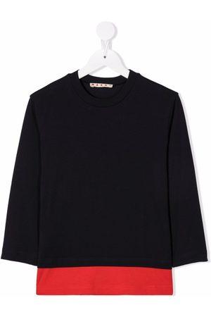 Marni Tofarvet T-shirt med lange ærmer