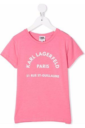 Karl Lagerfeld Kids Kortærmet T-shirt med logotryk