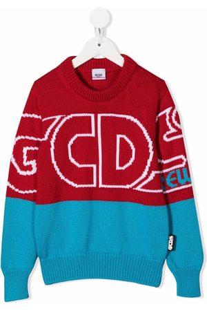 Gcds Kids Drenge Strik - Tofarvet trøje med logotryk