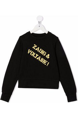 Zadig & Voltaire Kids Logo-print crewneck sweatshirt