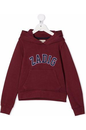 Zadig & Voltaire Kids Piger Sweatshirts - Logo-appliqué pullover hoodie