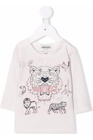 Kenzo Kids Baby Langærmede - Logo long-sleeve top