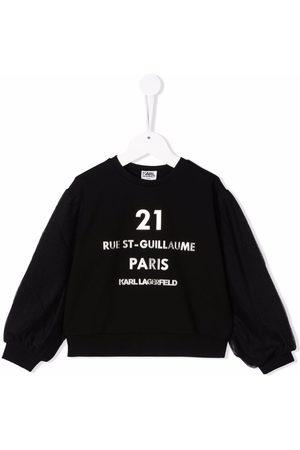 Karl Lagerfeld Kids Rue St. Guillaume sweatshirt med logo