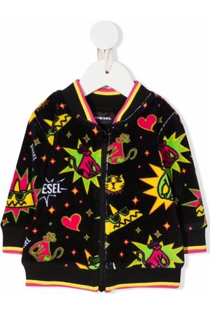 Diesel Kids Graphic-print zip sweatshirt