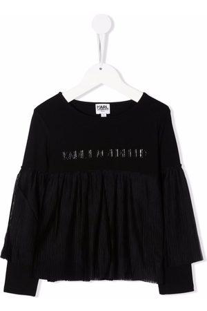 Karl Lagerfeld Kids Langærmet skjorte med flæsedetalje