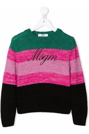 MSGM Kids Logo-print jumper