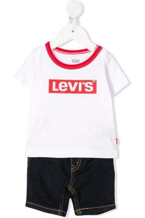 Levi's Kids Baby Babysæt - T-shirt og jeans-sæt med logotryk