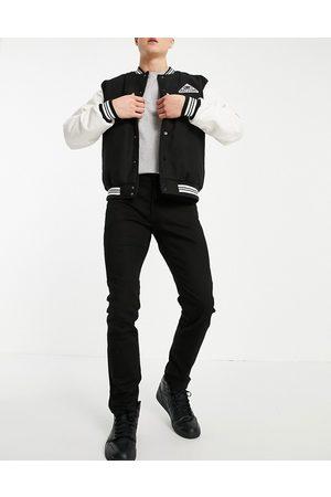 Topman Sorte slim-jeans med stretch i økologisk bomuldsblanding