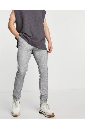 ASOS Elegante skinny-bukser med løbesnor i ribstrikket jersey - Del af sæt