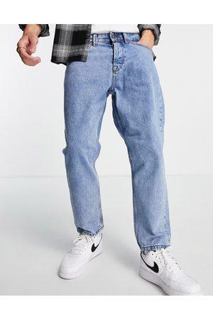 Only & Sons Mænd Tapered - Tapered, cropped jeans i lyseblå vintage-vask