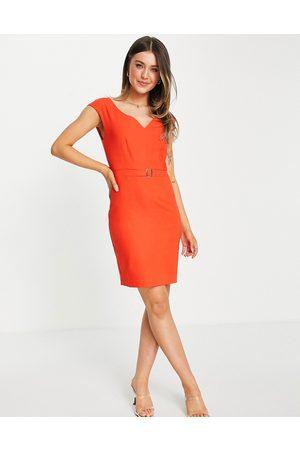 Morgan Kvinder Bodycon kjoler - Pencilkjole med bæltedetalje i