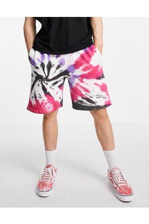 Vintage Supply Jerseyshorts med branding i flerfarvet batik-Multifarvet