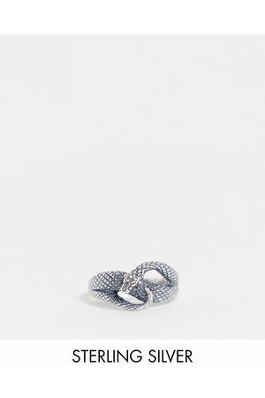 ASOS DESIGN Ring med snoet slangedesign i sterlingsølv