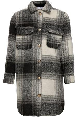 Grunt Børn Jakker - Aase Long Jacket Outerwear Wool Outerwear Sort