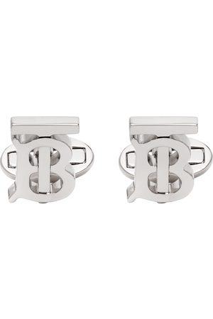 Burberry Mænd Manchetknapper - Silver Monogram Cufflinks