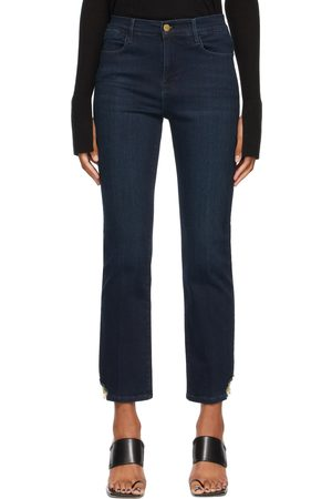 Frame Blue Stretch 'Le High Straight' Jeans