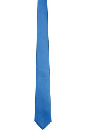 Burberry Mænd Slips - Blue Silk Classic Cut Tie