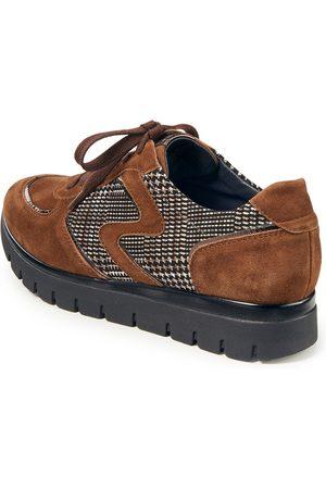 Semler Kvinder Sneakers - Plateausneakers Silvia i gederuskind kalverusk Fra brun