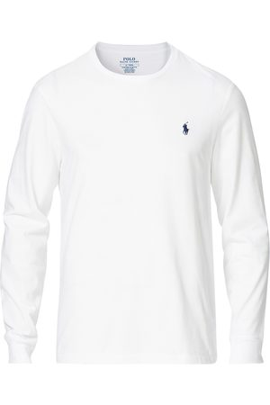 Polo Ralph Lauren Mænd Langærmede - Custom Slim Fit Long Sleeve Tee White