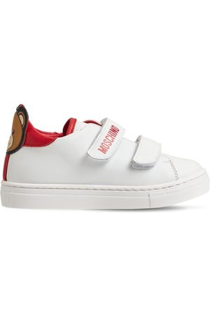 Moschino Piger Sneakers - Teddy Bear Strapped Leather Sneakers