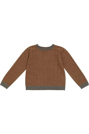 Bonpoint Cable-knit wool sweater