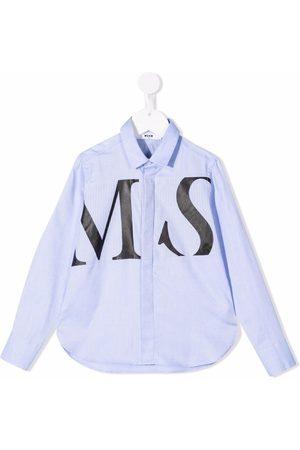 Msgm Logo-print cotton shirt