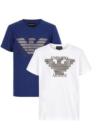 Emporio Armani T-Shirt - 2-Pak - White/Blue