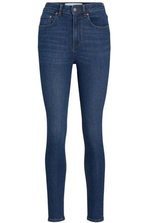 jack & jones Jxvienna Hw Am1002 Skinny Fit Jeans Kvinder Blue; Brown
