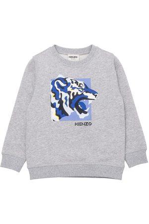 Kenzo Sweatshirts - Sweatshirt - Gråmeleret m. Print