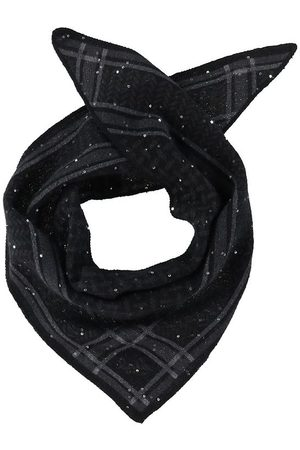 Lala Berlin Tørklæder - Tørklæde - Triangle Trinity Sequins XS - Sequins Bla