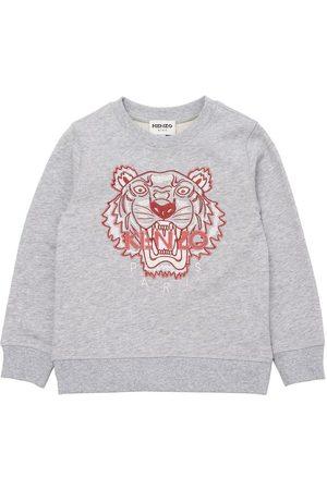 Kenzo Sweatshirts - Sweatshirt - Gråmeleret m. Tiger