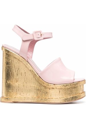 HAUS OF HONEY Kvinder Kilehæle - Lacquer Doll wedge sandals