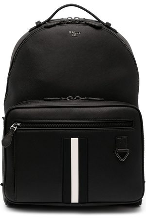Bally Stripe-detail leather backpack