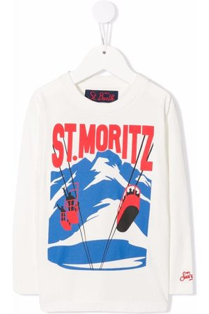 MC2 SAINT BARTH Drenge Langærmede - Graphic-print long-sleeved T-shirt