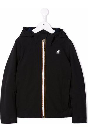 K Way Kids Drenge Vinterjakker - Logo-patch zip-up hooded jacket